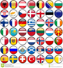 Europe Flags All European Flags Circle Glossy Buttons Every Button Is