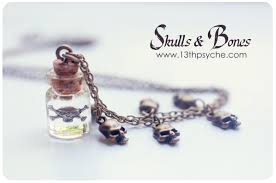 silver bottle necklace images Skull pendant tiny glass bottle necklace glass vial necklace cute jpg