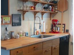 Small Kitchen Open Shelving Painted Floors Pendant Lighting Gray Cabinets Quartz Counters Bar
