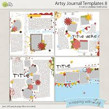 Photo Journal Template digital scrapbook template artsy journal 8 scrapping with liz