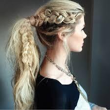 hair i woman s chin sideways a gorgeous sideways dutch braid into a ponytail by amberfillerup