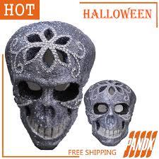 Halloween Skull Decorations Bling Skull Head Escape Haunted House Halloween Skull Decorations