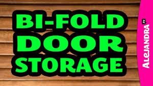 organizing with a bi fold closet door u0026 adding storage youtube