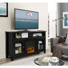 60 Inch Fireplace Tv Stand Wasatch 58 Inch Highboy Fireplace Tv Stand Black By Walker Edison
