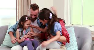 Same Sex Couple Family Watching TV On Sofa Stock Footage Video - Family sex room