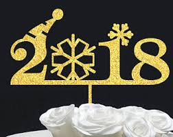 New Years Eve Cakes Decoration by New Year Cake Topper Etsy