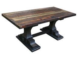 large trestle dining table reclaimed pedestal trestle dining table echo peak design