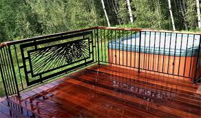 Patio Rails Ideas Bedroom Amazing Wrought Iron Railings Outdoors Deck Railing