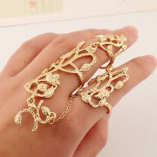 simple metal rings images 2016 fashion simple metal leaf flower gold ring set punk style jpg