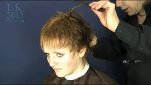 theo knoop new hair today long golden blond hair to short brown pixie style of simone by