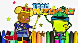 team umizoomi doormouse and bot coloring sheet team umizoomi