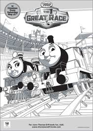 thomas u0026 friends the great race colouring pages free printables