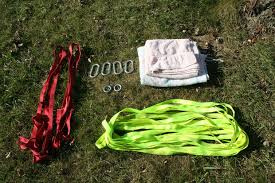 Backyard Slackline Without Trees How To Set Up A Slackline 10 Steps With Pictures