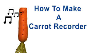 How To Make I How To Make A Carrot Recorder Ocarina Youtube
