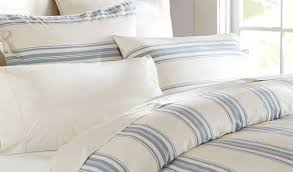 linens limited retro stripe duvet cover set blue king linens