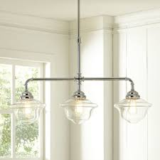 Three Light Pendant Mcgrath Pendant Schoolhouse Style Is Given A Polished Look With