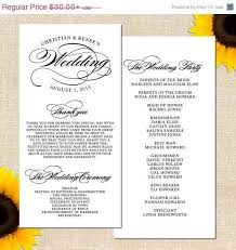 sle of a wedding program sle wedding program script 28 images classic script wedding