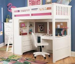 lea industries getaway study loft bed with desk and hutch bedroom