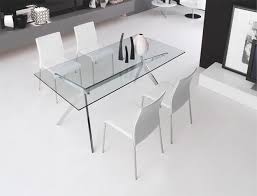 glass and chrome dining table modern calligaris seven glass and chrome dining table in 2 sizes