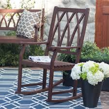 Outdoor Patio Rocking Chairs Belham Living Ashbury Indoor Outdoor Wood Rocking Chair Dark