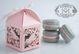 macaron wedding favors wedding favor macaron favor song bird wedding favor box and 2