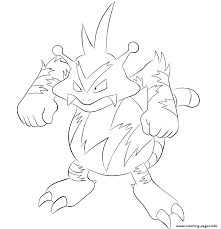 125 electabuzz pokemon coloring pages printable