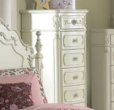 Traditional White Bedroom Furniture Homelegance Cinderella 5 Piece Kids U0027 Poster Bedroom Set In White