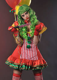 womens halloween red scary clown costume ladies scary clown costume