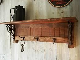 vintage coat rack with shelf tradingbasis