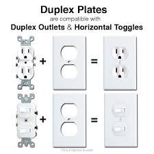 light switch covers 3 toggle 1 rocker horizontal flip toggle light switch wall plates