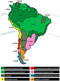 south america map rainforest map of south american climatic dominions modified afte open i
