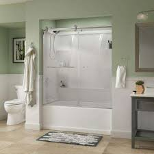 Glass Doors For Tub Shower Bathtub Doors Bathtubs The Home Depot
