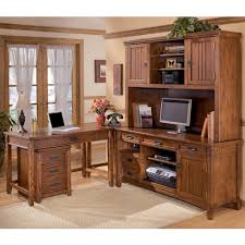 ashley furniture corner table ashley furniture cross island 5 piece l shape desk unit with hutch