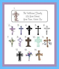 personalized religious cross crosses designs address labels
