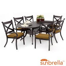 oval aluminum patio table avondale 7 piece aluminum patio dining set with oval table by