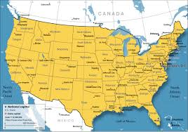 America Map With Names by United States Map With State Names U S A States On The Map