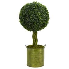 nearly 2 ft high indoor outdoor boxwood topiary