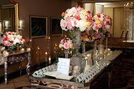 Mirrored Vases Reception Décor Photos Mirrored Escort Card Table Inside Weddings