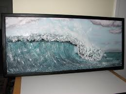 210 best drywall art textures images on pinterest plaster art completed hand painted and custom framed wave sculpture drywall art