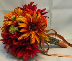 fall wedding bouquets silk fall wedding bouquets casadebormela