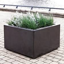 concrete planter vertical square rectangular brick velopa
