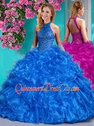 unique quinceanera dresses beautiful halter top beaded and ruffled unique quinceanera dress