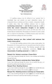 Resume Sentences Examples by Rambling Sentences Handout