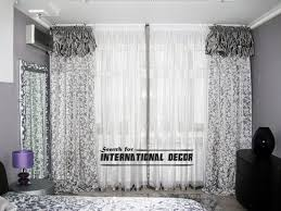 Black Grey And White Curtains Ideas Stunning White Curtains With Gray Pattern Inspiration With