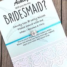invitation for bridesmaid bridesmaid gifts with wedding theme