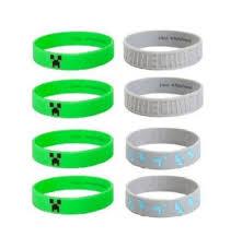 minecraft party favors minecraft silicone bracelet lot 24 bracelets party