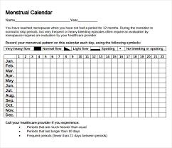 menstrual calendar template calendar template sample cute