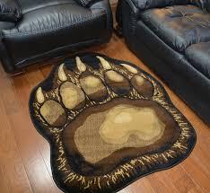 pine cone area rug amazon com bear claw rustic lodge paw area rug 3 u00278 w x 4 u002710 l