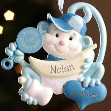 personalized baby christmas ornament personalized baby s christmas monkey ornament walmart