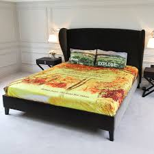 Design Your Own Bed Frame Personalised Bed Sheets Design Your Own Photo Bed Sheets